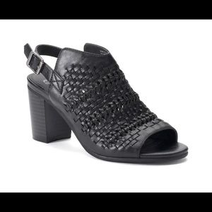 🌻 Sz 8.5 Black Slingback Mules Shoes pump